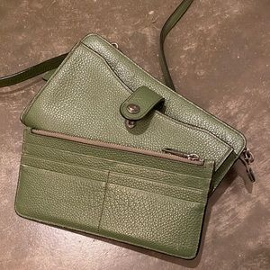 COACH Crossbody, Olive Green w/Matching Wallet